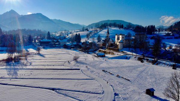 verschneite Winterlandschaft Goldegg