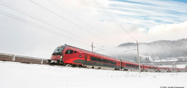 ÖBB Railjet Winter im SalzburgerLand.