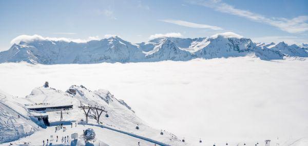 Winterbergpanorama Gasteinertal Skipiste